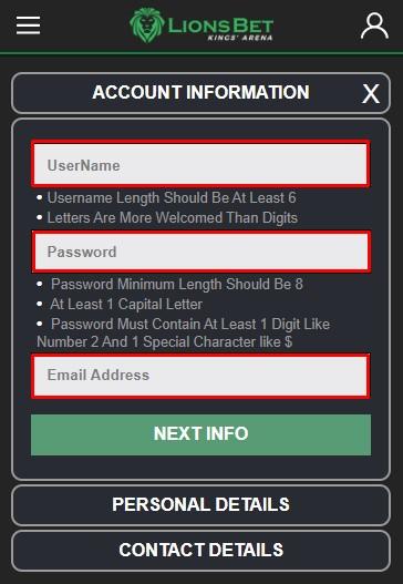 lionsbet registration