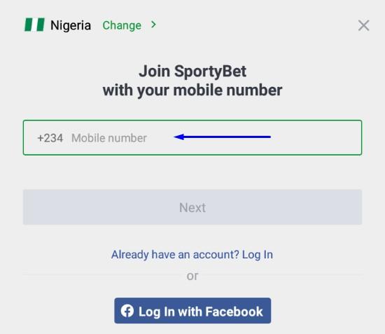 sportybet app login