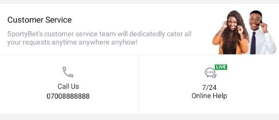 sportybet customer service